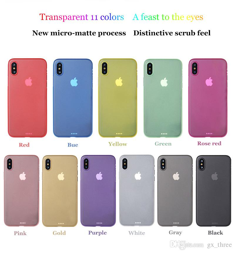 Candy Color TPU Case Micro Matte Solid phone shell for iPhone 8 8plus X Silicone Soft Phone Back Cover Slim Design