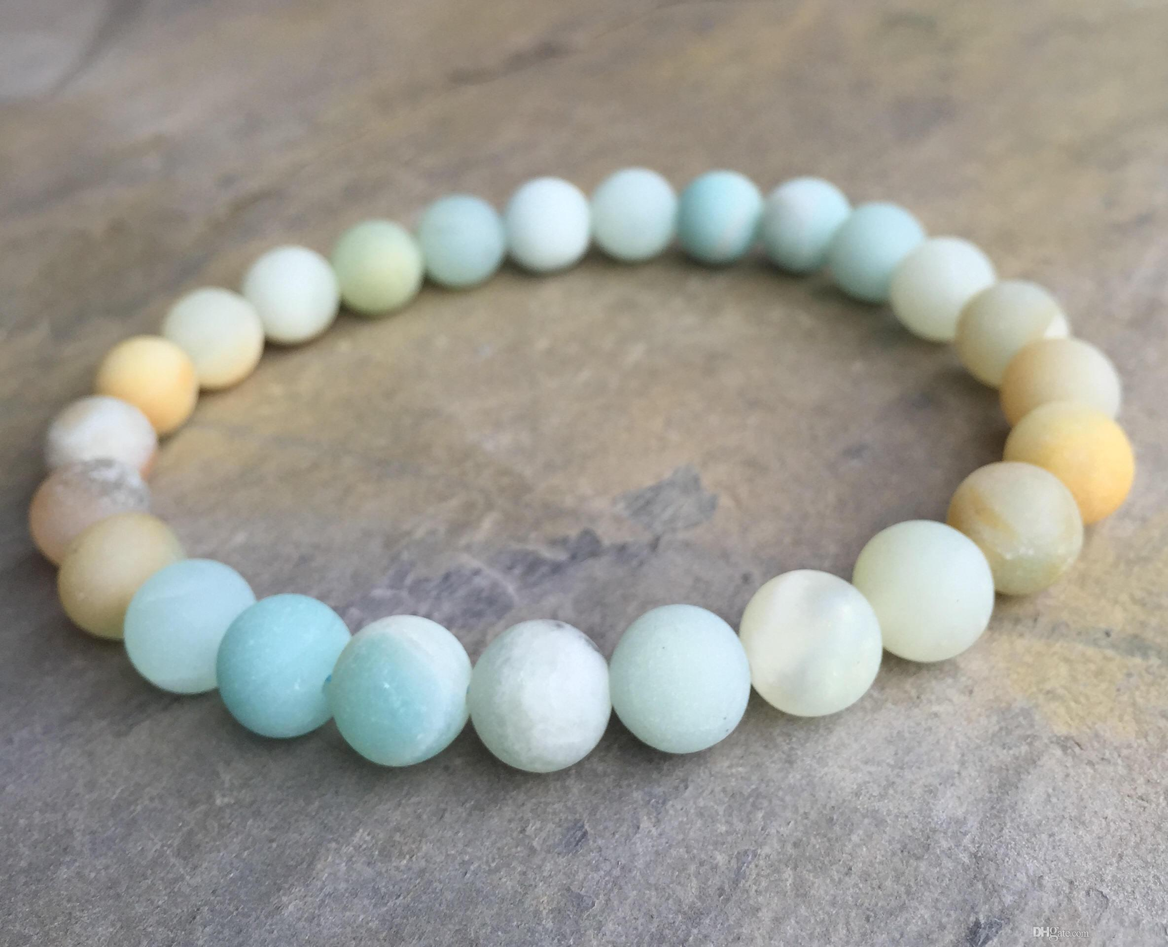 collections amazonite bracelet birth birthstone stones cord elastic on star stretch jewelry sign rounds matte zodiac by