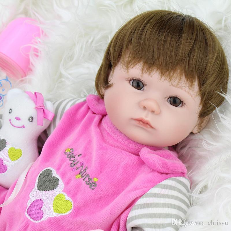 High Quality New Born Dolls New Born Baby Dolls Reborn Children Best Gift Silicone Reborn Baby Dolls for Kids Handmade Soft Silicone Toys