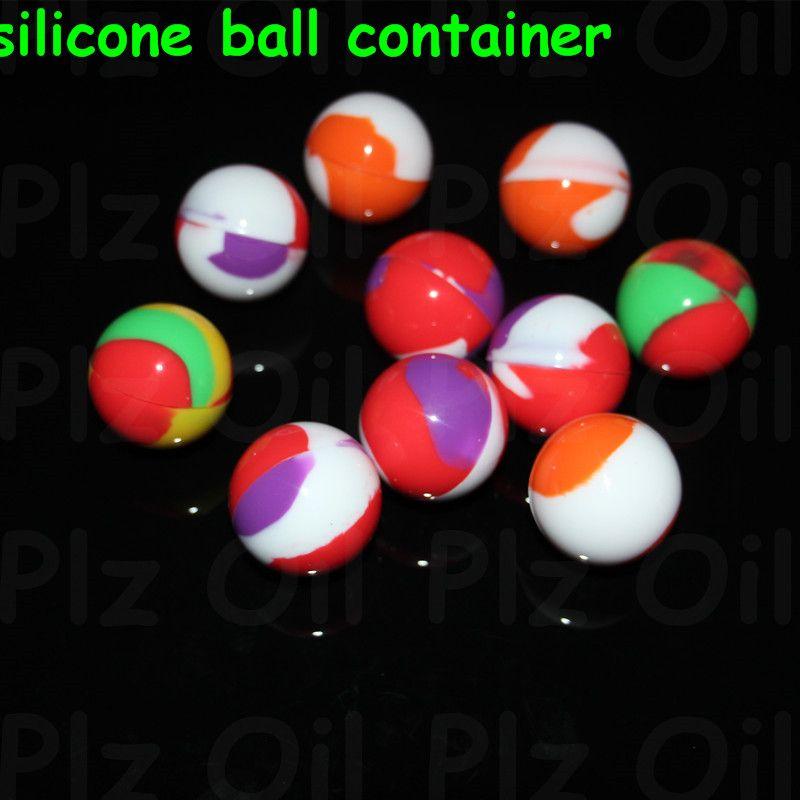 100 Teilelos Silikon Ball Container Nicht Feste Farbe Reine Farbe Antihaft Für Wachs Bho Öl Verdampfer Silicon Gläser Tupfen Wachs Container