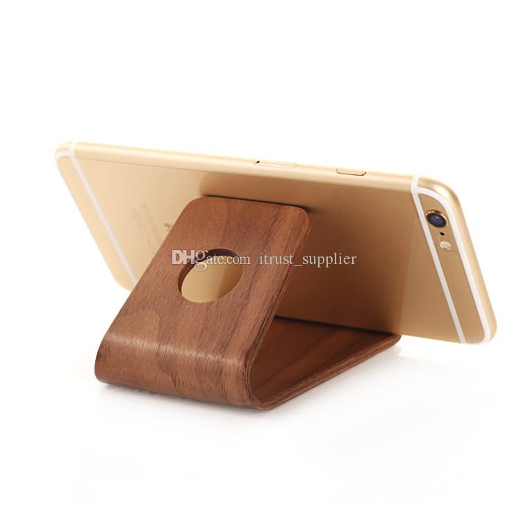 2016 горячий оригинальный САМДИ древесины держатель стенд для iPhone 6 6plus для Samsung Note3 Note4 S4 S5 и все более чем 5-дюймовый мобильный телефон