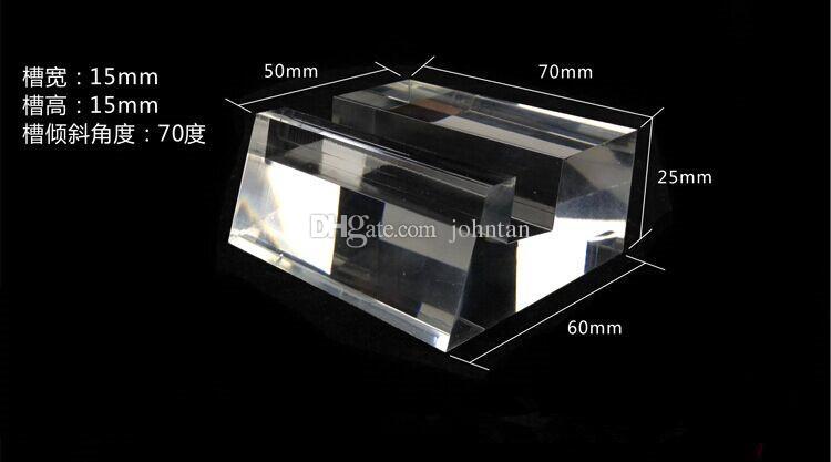 6 adet En çok satan Yüksek dereceli Akrilik Oluk Kristal Cep Cep Telefonu Ekran desteği Tutucu Raf büyük ekran Ücretsiz kargo