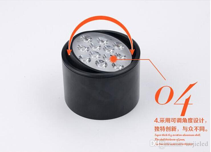 3W/5W/7W/9W/12W Dimmable Round LED Ceiling Light Surface Mounted Kitchen Bathroom Lamp AC85-265V LED Down light Warm White/Cool White