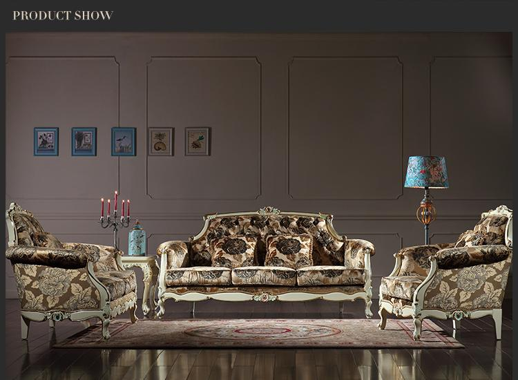 2017 French Royalty Classic Living Room Furniture European Sofa Set Rococo Style Solid Wood Frame From Fpfurniturecn 98593