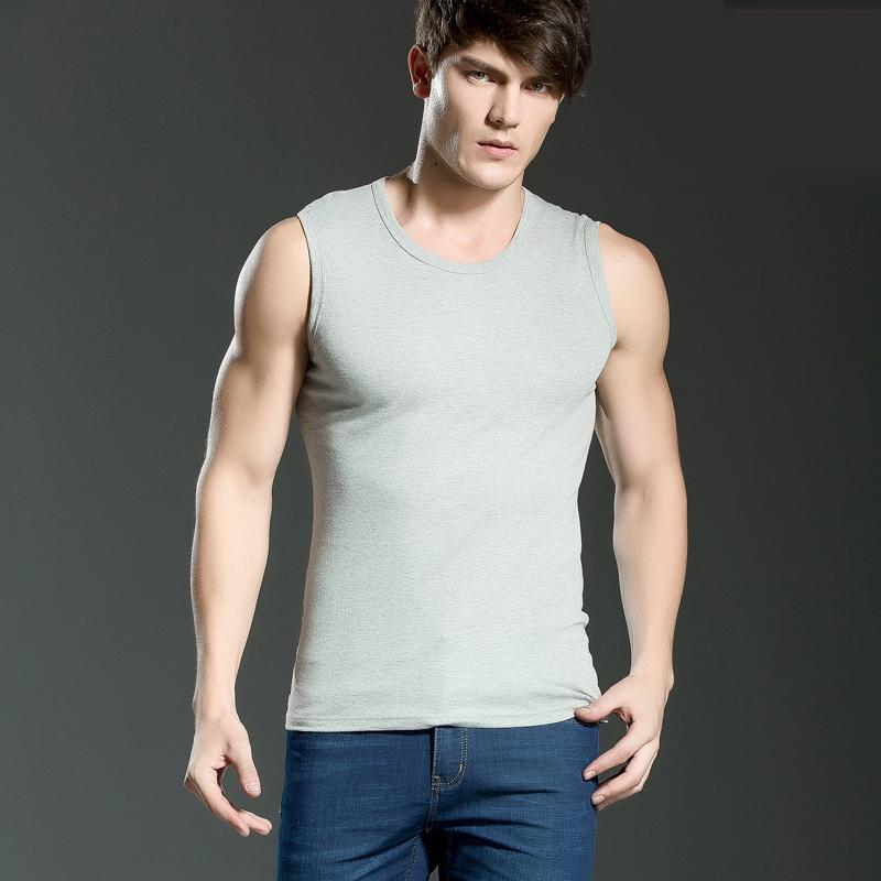 men 39 s cotton vest broad shoulders sport waistcoat tank