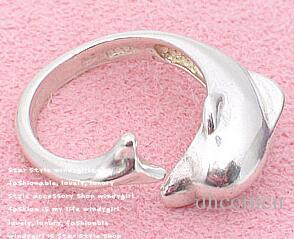 돌고래 반지 패션 쥬얼리 귀여운 오픈 실버 컬러 골드 컬러 밴드 반지 도매 선물 새로운 파티