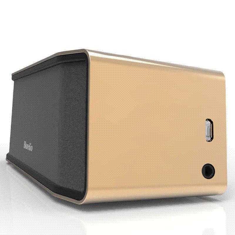 Bluedio BS-2 (Camel) Mini Bluetooth speaker Portable Wireless speaker Sound  System 3D stereo Music surround(gold) Cheap speaker buzzer