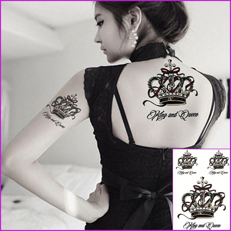 Acheter Reine Couronne Impermeable Tranfer Tatouage Temporaire Henna