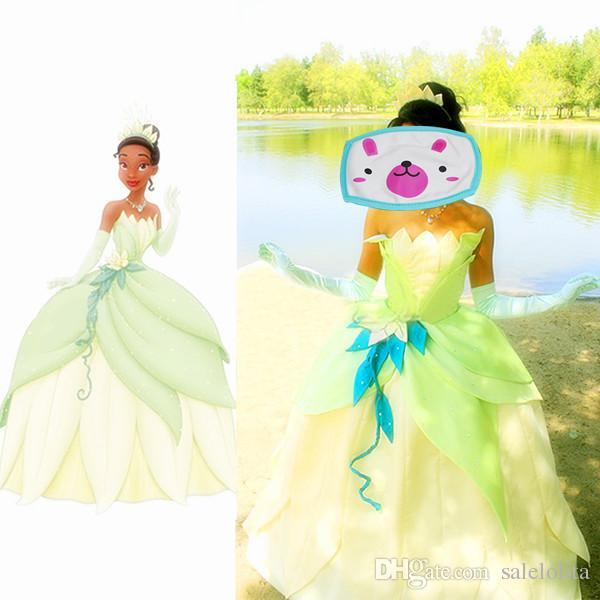 Customized The Princess And The Frog Cosplay Princess Tiana Dress