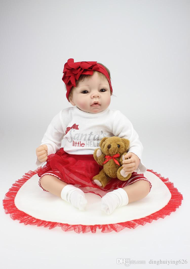 22 Inch Soft vinyl Reborn Baby Dolls So Truly Real Baby Alive Doll Girls Birthday gift