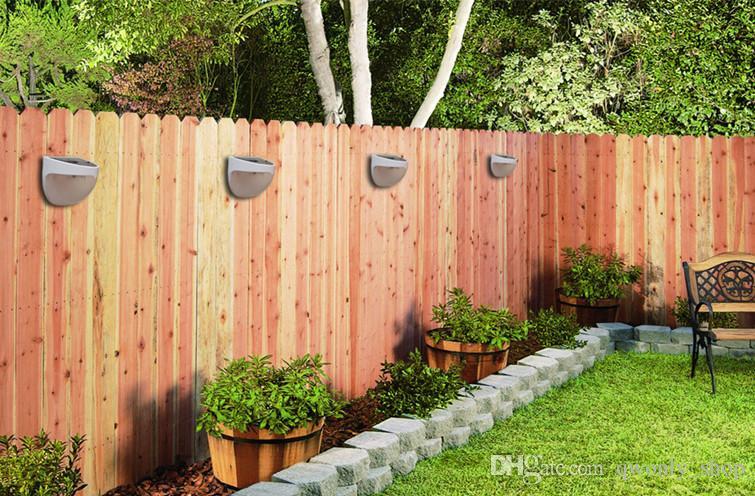Impermeable 6 LED Luz solar Jardín Decoración Sensor de luz Panel de energía solar Montaje en pared Pared de vía de valla al aire libre