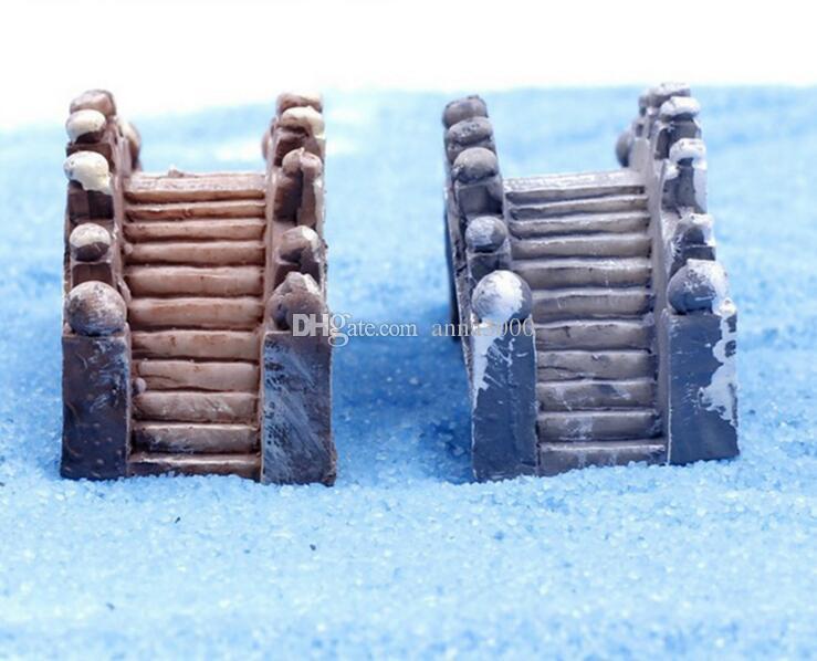 Attrezzi del giardino dello strumento della decorazione di terrario del giardino del muschio del giardino miniatura di resina del mini ponte della resina Trasporto libero del DHL