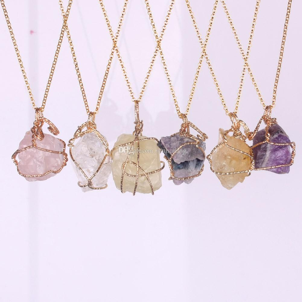 eden raw amethyst necklaces shop jewelry gold pendant necklace rough reija handmade cut
