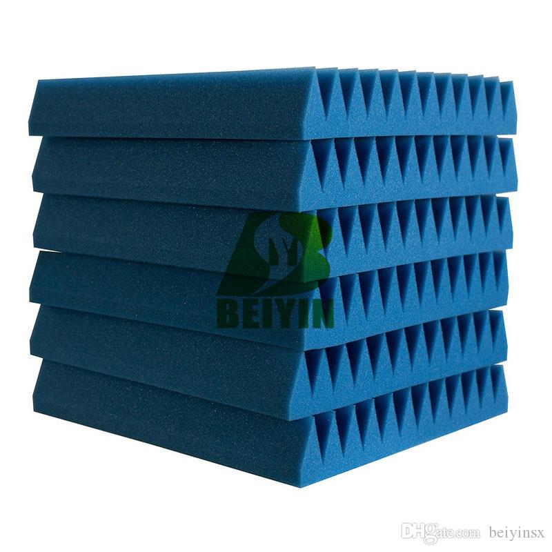Wedge Acoustic Foam Studio Audio Echoes Treatment Sound Insulation Soundproof Foam Silencing Wall Panels Fireproof Mater 30X30X2.5cm