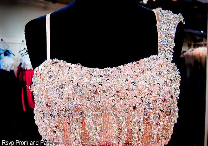 الوردي واحد الكتف فليرتي الشيفون الحفلة الراقصة اللباس اليد الديكور ألف خط مساء اللباس صالح للرقص مهرجان اللباس