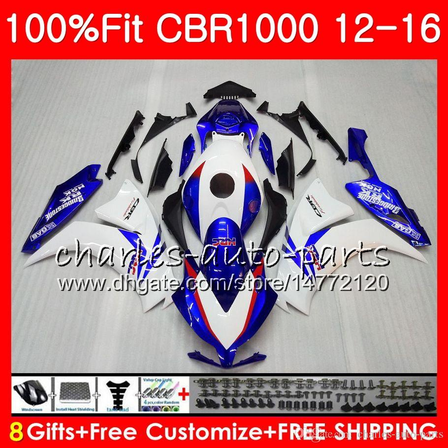Injection Body For HONDA CBR 1000 RR Factory blue CBR1000RR 12 13 14 15 16 88NO6 CBR 1000RR CBR1000 RR 2012 2013 2014 2015 2016 Fairing kit