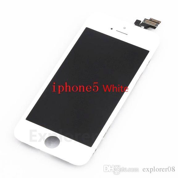 schwarz weiß Test bestanden für apple iphone 5g 5c 5 s lcd touchscreen komplett touchscreen display digitizer montage ersatzteile 1 stück