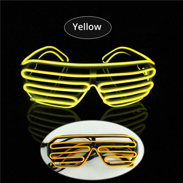 EL Glasses EL Wire Fashionable Neon LED Light Glowing Sunglasses