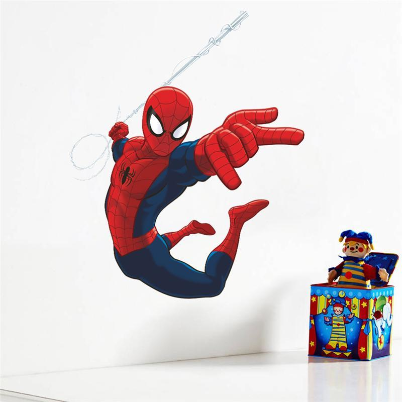 Wholesale Spiderman Super Heros Wall Stickers Kids Room Decor ...