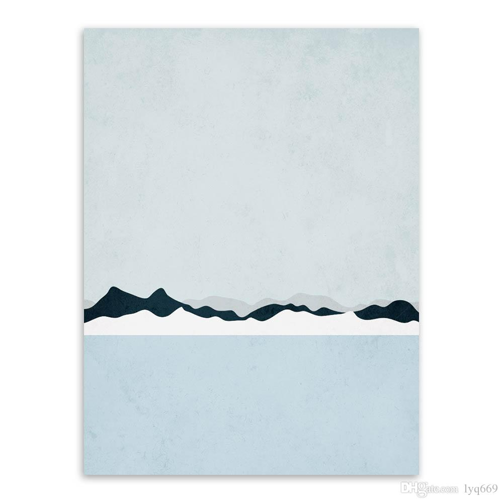 Triptych Modern Abstract Landscape Canvas A4 Art Print Poster Iceland Wall Pictures Living Room Home Decor Paintings No Frame