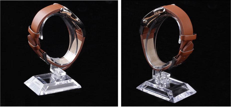 20 шт. / Лот C кольца стиль Прозрачный Пластиковый Наручные Часы Держатель Дисплея Стойки Магазин Магазин Стенд