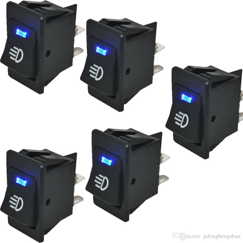 2020 Car Rocker Switch 12v 35a On Off 4 Pin With Blue Led