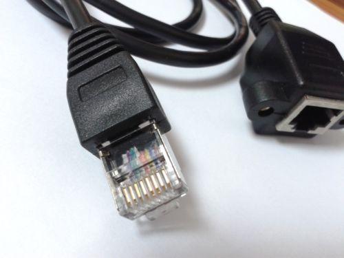 1X RJ45 Монтаж на панель с винтовым креплением Ethernet LAN Сетевой удлинитель 1M
