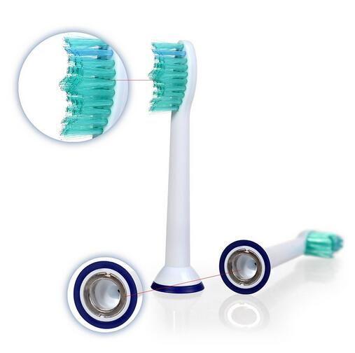 4 Teile / satz Elektrische Zahnbürste Kopf Ersatzköpfe Passend für Philips Sonicare P-HX-6014 / HX6014 Zahnbürste Mundhygiene