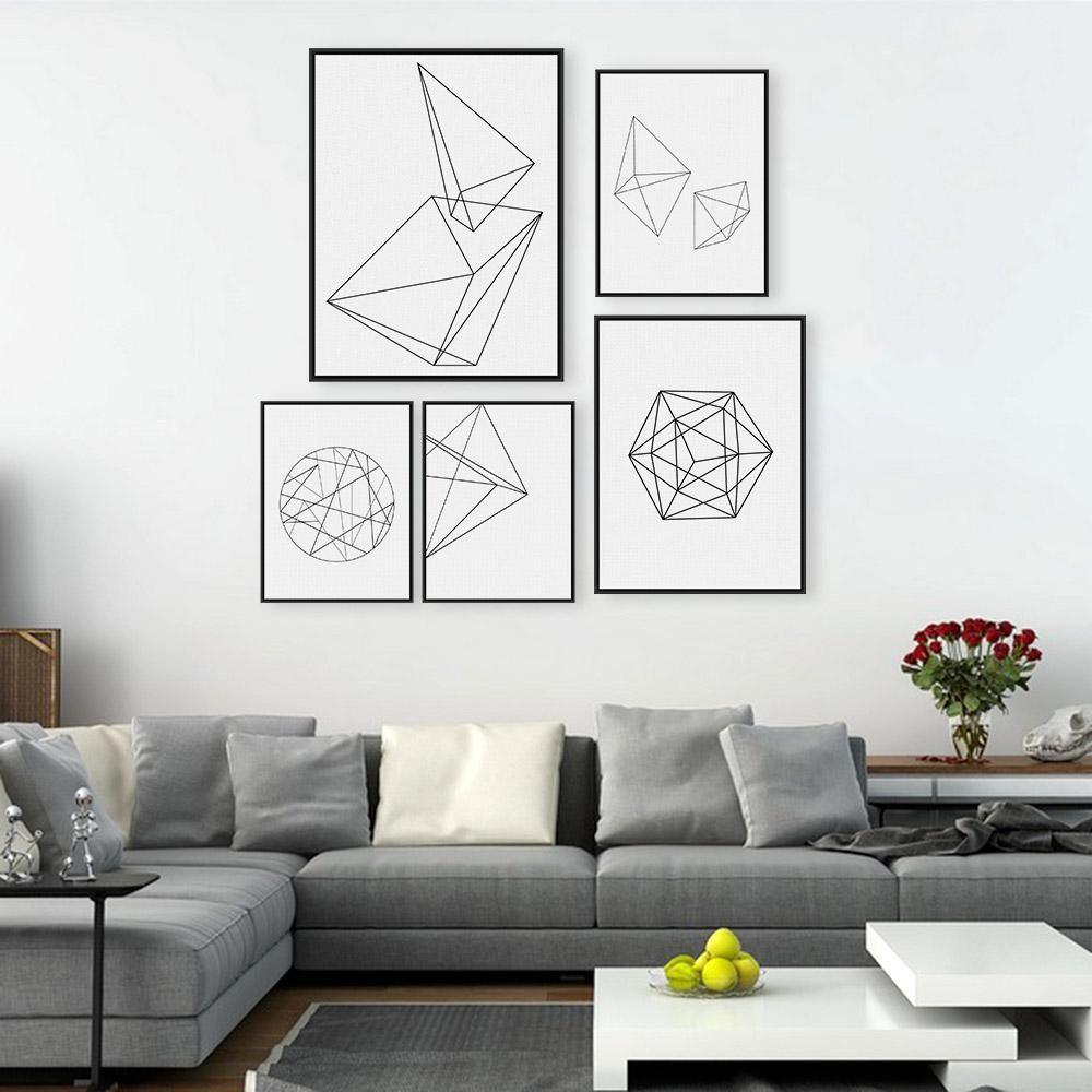 Großhandel Moderne Nordic Minimalistischen Schwarz Weiß Geometrische ...
