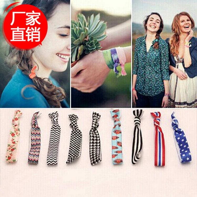 2019 Pretty Knot Elastic Hair Tie Hairband Rubber Band Ponytail Holder  Bracelets Silk Cloth Knotted Headwear Hair Accessories Simple From Dindim a834357e87c