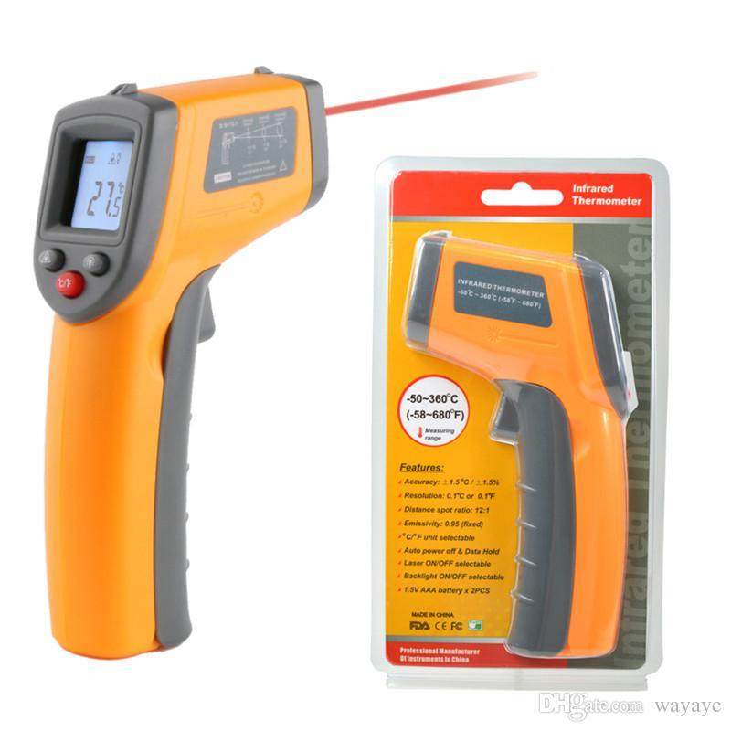 Grosshandel Laser Lcd Anzeigen Digital Ir Infrarot Thermometer Auto