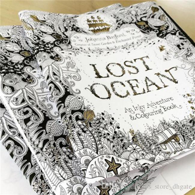Lost Ocean Coloring Books Graffiti Painting Drawing Book 44 Papers Education Toys For Adult And Children Picture Of Halloween