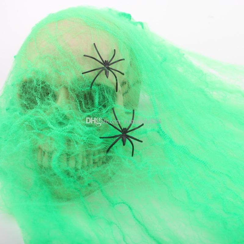 DHL Halloween Decoration Fake Cotton Spider webs cobweb spiderweb Party Haunted House Halloween Props Home Decoration