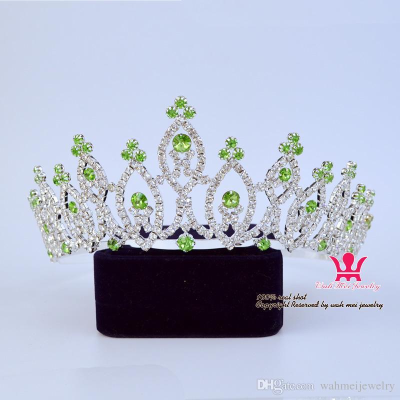 Pageant Bridal Crown Tiara Crystal Rhinestone Princess wedding Hair Accessories Mixing Colour Classic Hairwear 00342