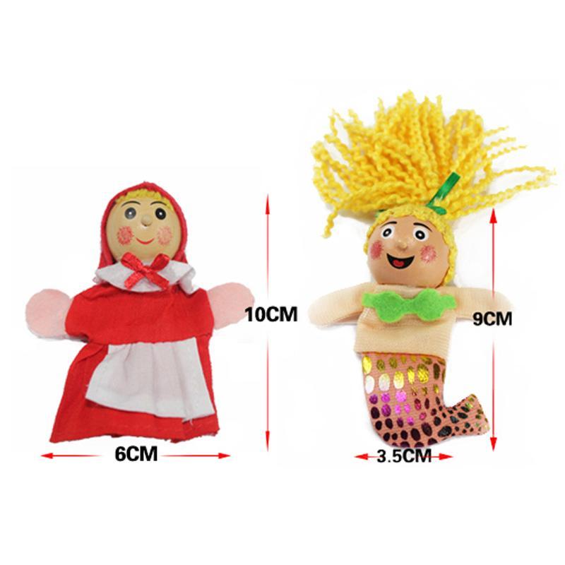 Acheter Petit Chaperon Rouge Dessin Animé Doigt Marionnettes Cadeaux De Noël Marionnette à Doigt Bébé Jouet éducatif Main Jouet 11 250 De 5 41 Du