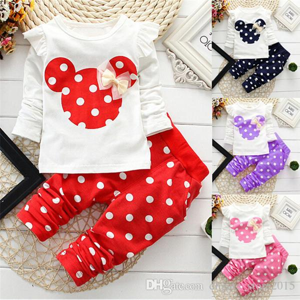4d265f27f 2016 New Spring Autumn Children Girls Clothing Sets Mouse Clothes ...
