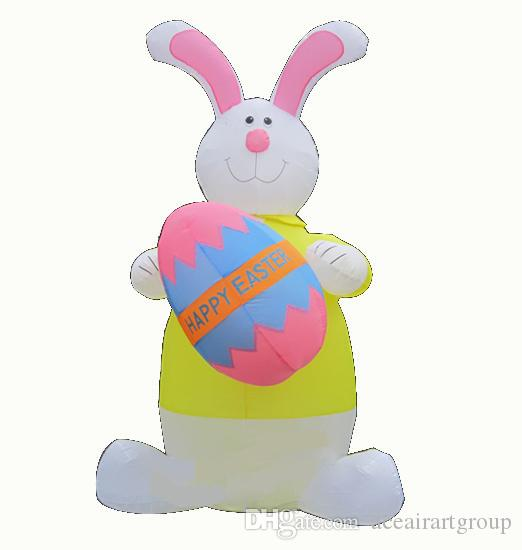 1.8mH celebration decoration inflatable Easter bunny inflatable Easter include for selling