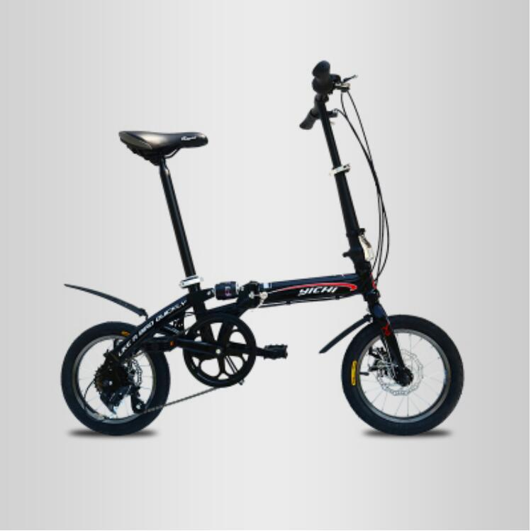 Stock In Usa 6 Speed Folding Bicycle Lightweight 14 Inch 6 Speed