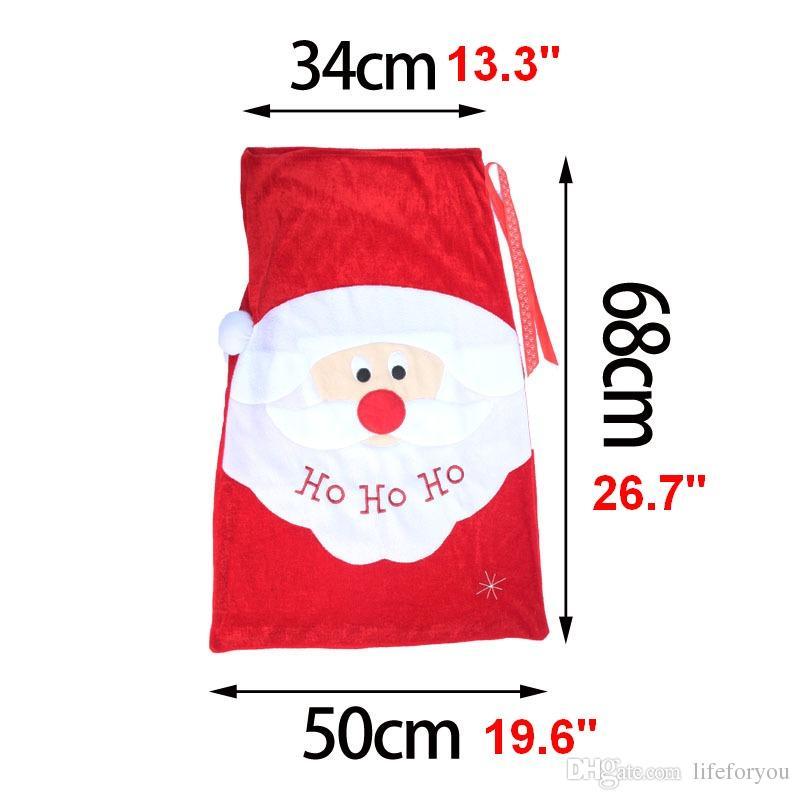 Noel Büyük Hediye çanta Noel Baba Çanta süsler sahne Santa kardan adam tarzı Noel süslemeleri şeker hediye Çuval Çanta
