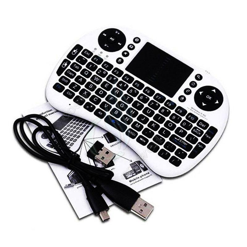 Mini i8 Teclado inalámbrico 2.4G RII batería recargable Panel táctil Control remoto bluetooth Fly Mouse PC Pad Andriod TV Box Xbox360 PS3 DHL