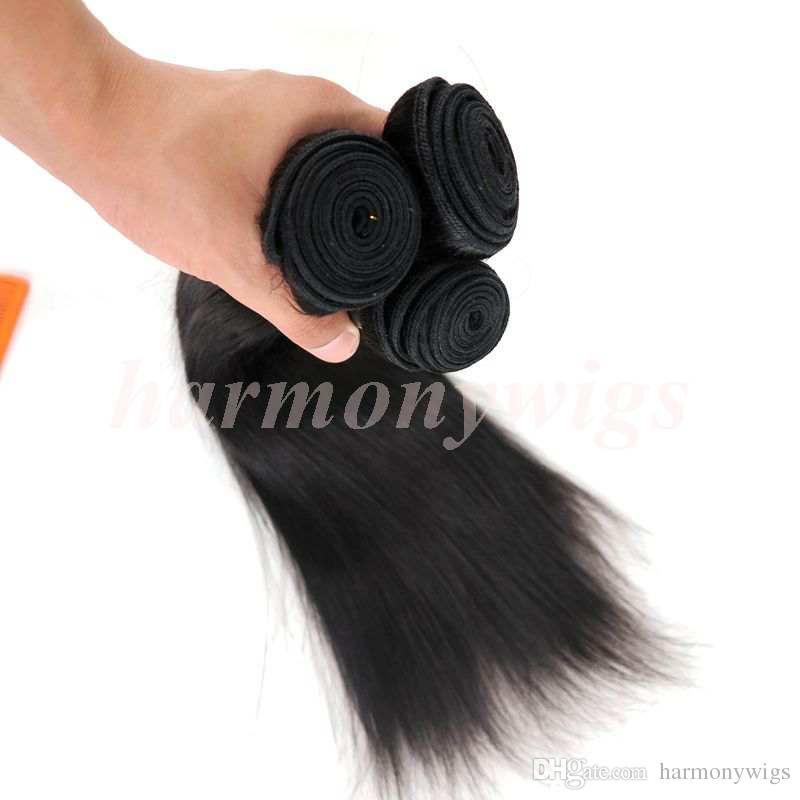 Виргинские бразильского волос ткет человеческих волос прямые пучки 8-34inch необработанное перуанский Индийский монгольской норки оптом наращивание волос