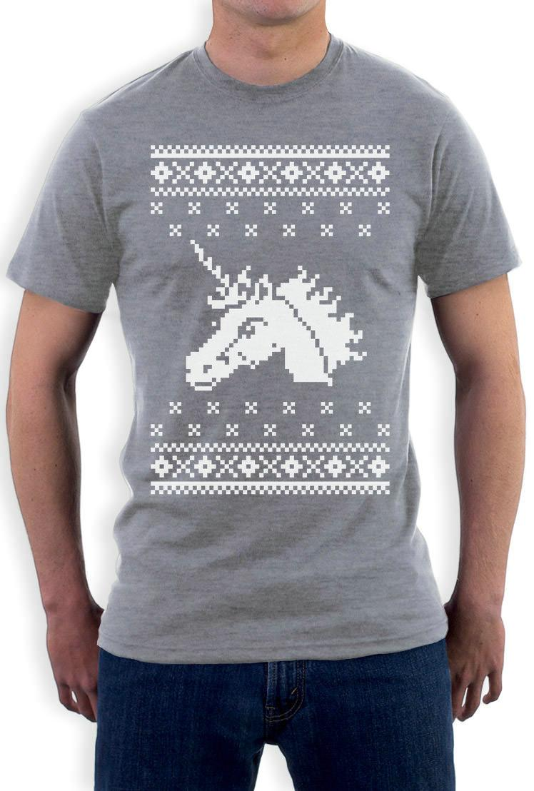 creative printed ugly christmas sweater big white unicorn magical xmas t shirt gift idea funny tee shirt hipster summer anti wrinkle 7 t shirt funny rude t