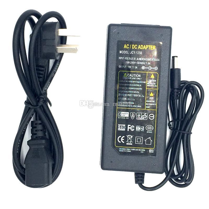 50M Impermeable IP68 SMD5050 Tira de luz LED DC 12V + Conector DC hembra + 12V 5A Adaptador de fuente de alimentación Envío libre de DHL