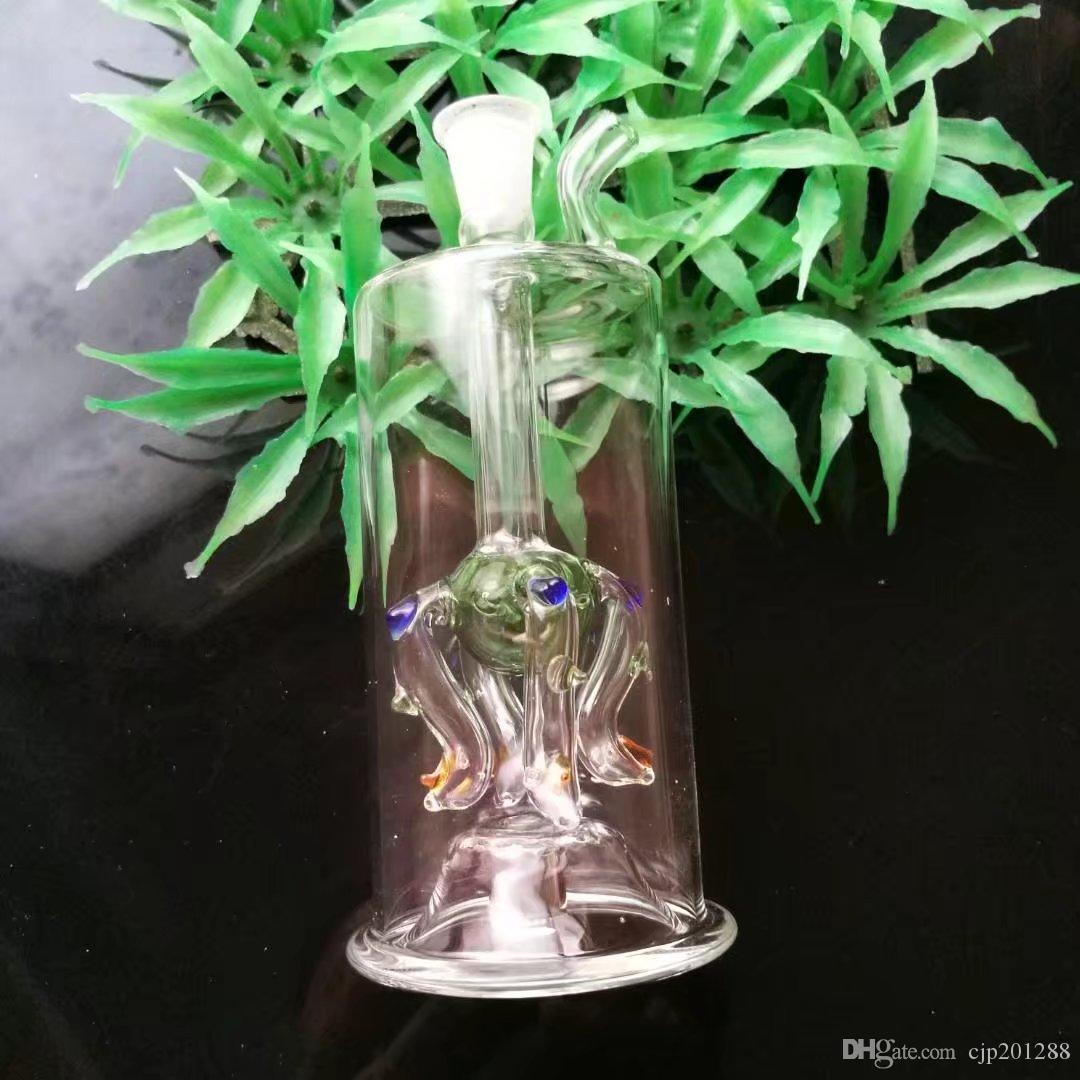 Uma variedade de garrafas de água de vidro manchado, livre para enviar um pote.