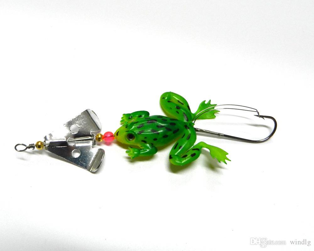 Новые пластиковые мягкие насекомые 6.2g 100шт вертушки ложки рыболовных приманок мягких лягушки приманка Soft Иска искусственной рыболовной приманка leurre Броша