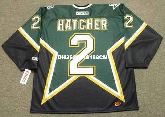 separation shoes 6e093 46399 Cheap custom retro DERIAN HATCHER Dallas Stars 1999 CCM Jerseys Away  Jerseys Mens stitched Hockey Jersey