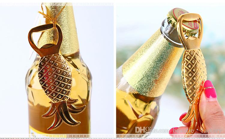 Chrome Bottle Opener Gold Pineapple Beer Openers Wedding Favors Supplies Wine Favor Christmas Gift New