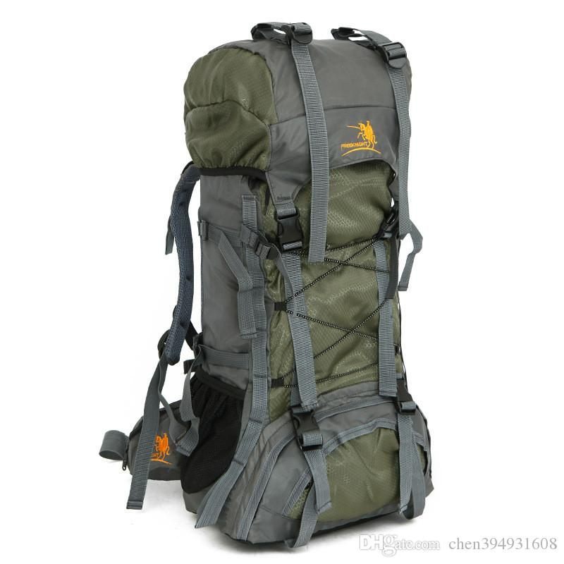 Knight 60L extra large nylon impermeabile sport all'aria aperta professionale arrampicata trekking mountianeering borse da viaggio zaino
