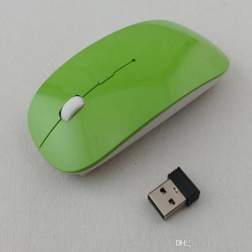 2020Cheapest mejor ratón inalámbrico con ultra fino óptico 2.4G receptor Super Slim ratón para PC Ratones del ordenador portátil Escritorio con es