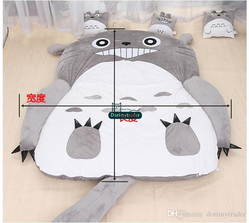Dorimytrader Hot Anime giapponese Totoro Sacco a pelo Big molle della peluche tappeto materasso letto: cotone di trasporto DY61067 libero